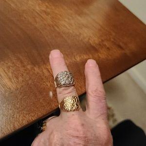 2 mens gold rings